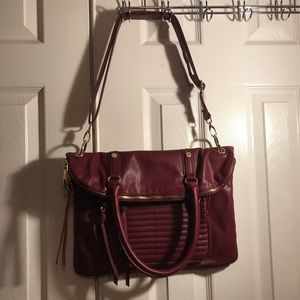 Steve Madden Burgundy Large Crossbody Bag